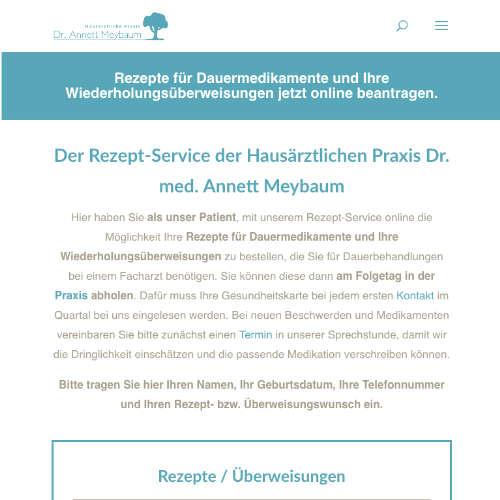 Der Rezepte -Service der Hausärztliche Praxis Dr.Anett Meybaum.